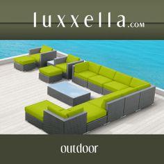 Modern Outdoor Patio Furniture Wicker Bella 15 PIECE PERIDOT All Weather Furniture #patiofurniture #wickerfurniture #Outdoorwicker