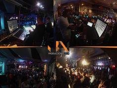 Collage de una producción nuestra en una fiesta temática en uno de los locales más grandes y conocidos de Caracas.