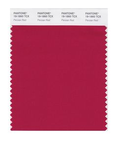 PANTONE SMART 19-1860 Color Swatch Card, Persian Red