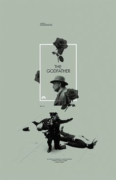 The Godfather alternative movie poster designed by Adam Juresko