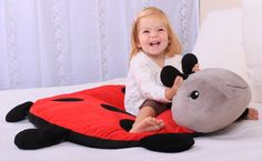 Amazon.com: CloudB Twilight Ladybug Snug Rug Cloud B Childrens Room Decor: Baby