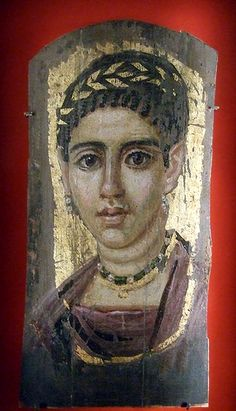 *EGYPT ~ Fayum Portrait. Young Woman with a Gilded Wreath in the Metropolitan Museum of Art
