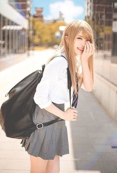 Check out these Japanes theme cosplay characters. Asian Cute, Cute Asian Girls, Beautiful Asian Girls, Cute Girls, School Girl Japan, Japan Girl, Cute Japanese Girl, Japanese School, Japanese Teen