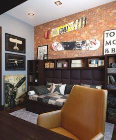 Ideen jugendzimmer junge wei grau wohnwand b cherregale for Jugendzimmer junge wandgestaltung