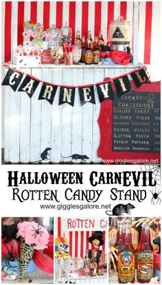 Halloween CarnEVIL Rotten Candy Stand