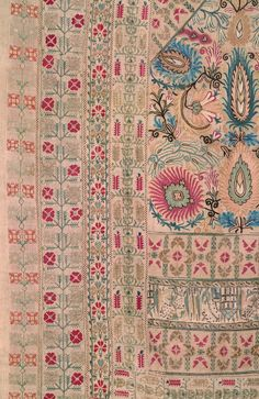 Greek Island or Epirus (1800-1850).  A rare, exquisite Ottoman-influenced Greek embroidery on hand woven linen. (detail)
