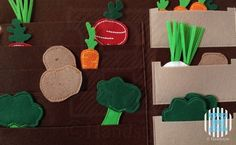 The Quiet Book Blog: Sabrina's Quiet Book Could number each pocket:  1 radish, 2 celery, 3 carrots etc