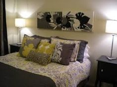 Grey And Yellow Bedroom Extraordinary Simple Grey And Yellow Bedroom  Mi Casa  Pinterest  Bedrooms Design Inspiration