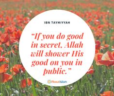 Do good in secret!