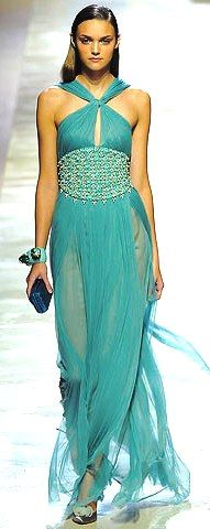 Turquoise Blumarine Couture 2009