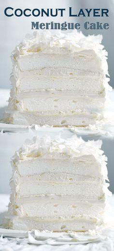 Coconut Layer Meringue Cake