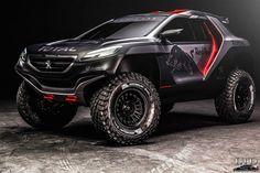 Peugeot 2008 DKR 2015 - Imagen Exterior Estática - Frontal Lateral - Neumaticos Michelin 37 Pulgadas
