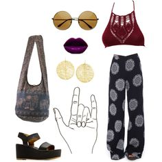 Afropunk by taliaxxpaulette on Polyvore featuring moda, Motel, MANGO and Yossi Harari