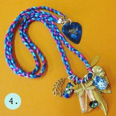Abilu Creations - Gem Jewel Semi Precious Charm Necklaces (various designs)