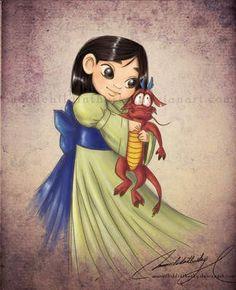 Child Princess Mulan Drawing