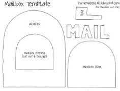 Mailbox template for quiet book Quiet Book Templates, Quiet Book Patterns, Craft Patterns, Food Patterns, Paper Templates, Sewing Patterns, Felt Crafts, Crafts To Make, Paper Crafts