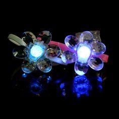 Crystal Flower LED Silicone Bracelet   GF Brand