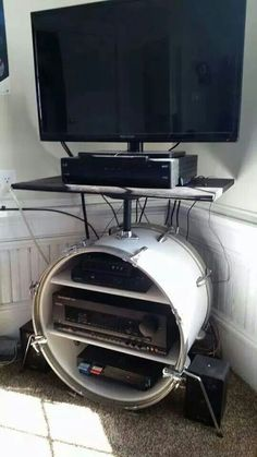 Every drummer must have http://www.mancavegenius.org/category/man-cave-design/