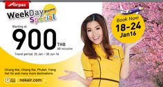 Grab it fast ! Nok Air Special weekday Promo on Airpaz.com Flight starting at THB 900 More info : http://ow.ly/Xctml  #CheapFlights #Travel #Promo #NokAir #Thailand #Airpaz #Traveling #Promotion #Special #Fare #Weekday #Holiday #Vacation