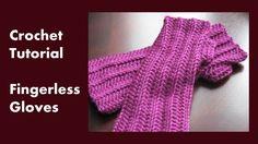 "Tutorial ""How to Crochet Fingerless Gloves"" Pattern below or: http://yarnobsession.com/free-crochet-pattern-crochet-fingerless-gloves Connect on Facebook: ht..."