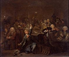 Hogarth, William - Carrière d'un libertin : 6. La maison de jeu - Sir John Soane's Museum