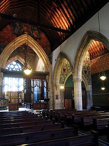 Interior of All Saints' church, Jesus Lane, Cambridge, England. The church was designed by George Frederick Bodley and built between 1863 – I love churches architecture, just not what they represent. Gothic Revival Architecture, Church Architecture, William Morris Art, What Dreams May Come, Church Pictures, Church Interior, All Saints, My Dream Home, Barcelona Cathedral