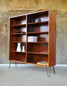 60er HUNDEVAD PALISANDER Regal Standregal Highboard DANISH 60s ROSEWOOD cabinet | eBay
