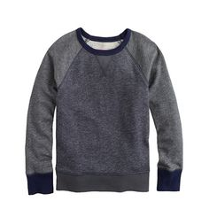 J.Crew - Boys' colorblock raglan sweatshirt $55.00 now $50.00