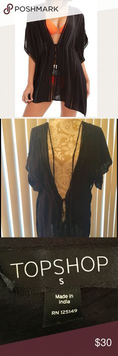 Embroidered Topshop Cover-Up Caftan Brand New Brand new, flattering beach/pool cover up, current retail price at Nordstrom is $60 Topshop Swim Coverups