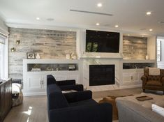 Peel and Stick Wood Paneling Collections | Stikwood Stick On Wood Wall, Peel And Stick Wood, Wood Plank Walls, Wood Planks, Wood Paneling Walls, Wood Plank Ceiling, Fireplace Remodel, Fireplace Wall, Fireplace Accent Walls