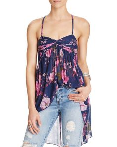 Free People Mirage Convertible Floral Top