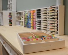 Hi everyone! The new 14 Cubby Drawer Caddy is a great organizer to store all of the washi tape you have in piles and boxes. This nifty caddy will showcase all