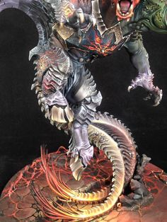 i haven't seen much really really good paint jobs of archaon, not even much paint jobs at all. This is bad-ass Warhammer Aos, Warhammer Models, Warhammer 40000, Mini Paintings, Cool Paintings, Paint Schemes, Color Schemes, Fantasy Model, Minis