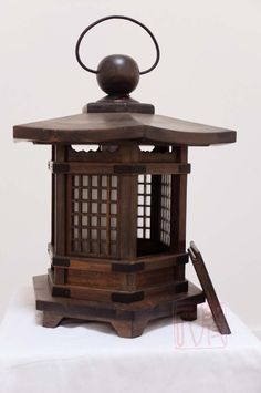 Japanese style lantern made of solid fir wood.