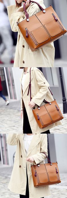 Women Oil Wax Leather Tote Bag Retro Shoulder Bags Handbags is designer, see other popular bags on NewChic. Cheap Purses, Cheap Handbags, Cute Purses, Tote Handbags, Purses And Handbags, Luxury Handbags, Designer Handbags, Womens Purses, Womens Tote Bags