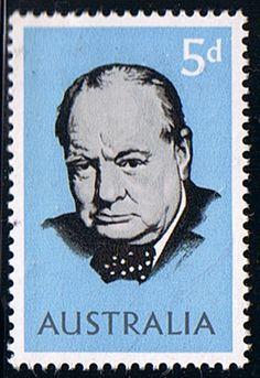 Australia 1966 Churchill Fine Mint SG 377 Scott 389 Other Australian Stamps HERE