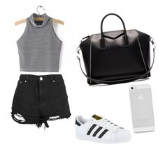 """""""Summer day wear"""" by newt1504 on Polyvore featuring adidas and Givenchy"""