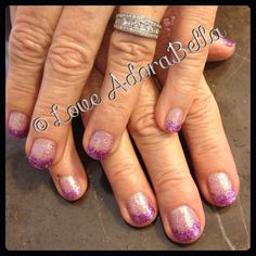 French Glitter Nails #nails #nail #fashion #style #maniq #cute #beauty #beautiful #instagood #pretty #girl #girls #stylish #sparkles #styles #glitter #nailart #art #photooftheday #pink #gelnails #french #love #shiny #gelpolish #nailswag #follow #loveadorabella