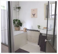 "beach house bathroom - ""Dear Hairy Mermaid"" from L'Affiche Moderne"