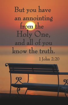 1 John 2:20. Must be baptized in the Holy Spirit~that fire that gives the power to live the abundant life!! It's the level of discernment & wisdom to see into the hearts of people, it's God's view!