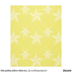 SOLD! Pale golden yellow white transparent stars pattern fleece blanket