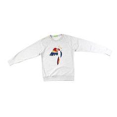 Sweat Perroquet par Mademoiselle Flo  #urbitparis #paris #colorful #sweat #perroquet #douceur #shopping #modefemme #automne #woman #femme #fashion #femalefashion #jep2017 Mademoiselle, Onesies, Paris, Sweatshirts, Sweaters, Kids, Baby, Shopping, Clothes