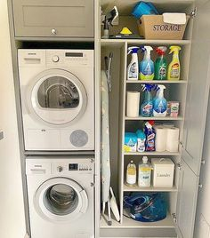 120 brilliant laundry room ideas for small spaces – practical & efficient -pag. 120 brilliant laundry room ideas for small spaces – practical & efficient -pag… Laundry Room Layouts, Laundry Room Remodel, Small Laundry Rooms, Small Rooms, Laundry Room Ideas Stacked, Kitchen Ideas For Small Spaces, Compact Laundry, Open Plan Kitchen, Utility Room Storage