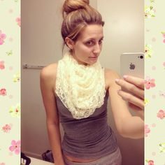 DIY Infinity Scarf made from wedding dress.