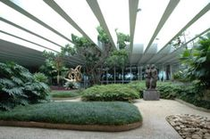 A view of Roberto Burle Marx's rooftop garden #gardendesign #landscapearchitecture #brazilian