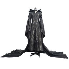 Maleficent Cosplay Costume Angelina Halloween Cosplay Clothing Black Long Dress #Unbranded #Dress #CocktailChristmasHalloweenCosplayStage
