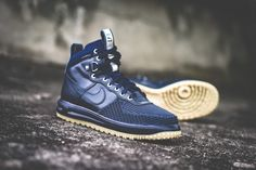 Nike Lunar Force 1 Duckboot - Dark Obsidian / Gum Light Brown