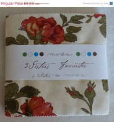 "MEMORIAL SALE - Cotton Fabric, Quilt, Craft, Charm Pack, 5"" squares,3 Sisters Favorites,  Moda, Fast Shipping, CP154"