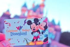 These were the tickets when Joey and I went to Disneyland for our Honeymoon