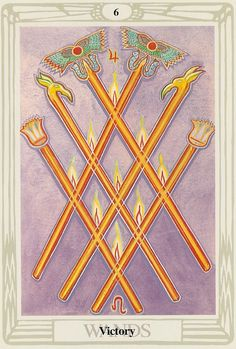 Victory (= 6 Wands) - Thoth Tarot